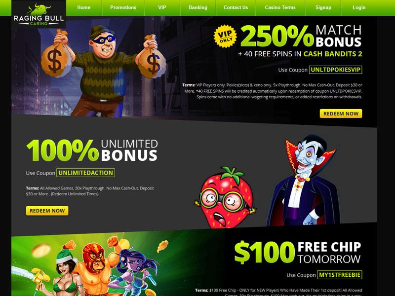 Raging Bull Casino Reviews