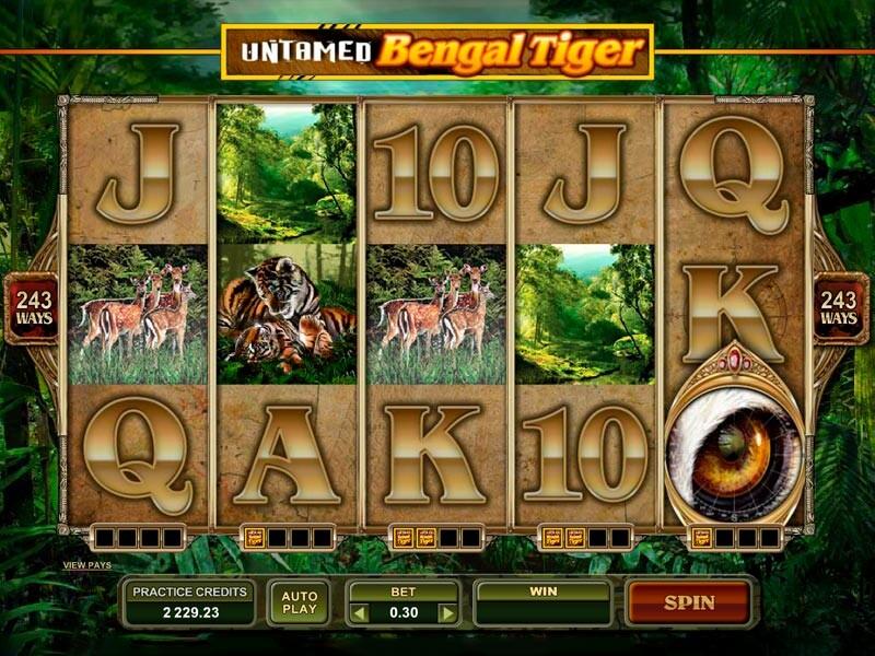 Untamed Bengal Tiger Free Slots